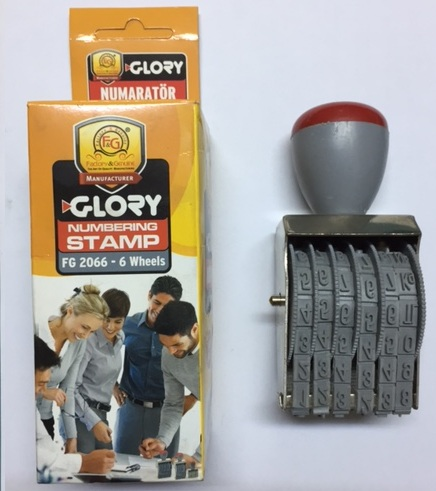 Glory Numaratör Stamp 6 Hane 6 mm FG-2066