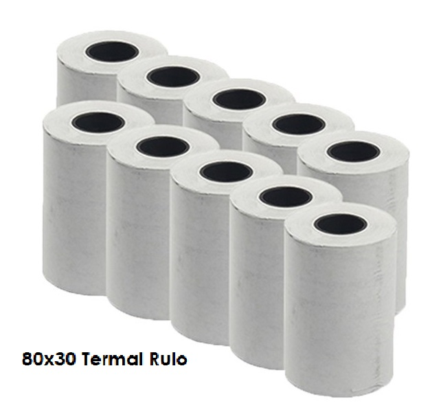 Termal Rulo 80 mm x 30 m 10 lu Paket